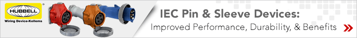 Hubbell IEC Pin Sleeve Connectors