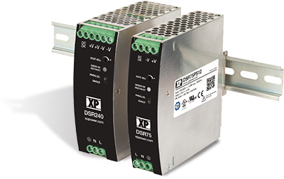 DSR Series Ultra-Slim 75 W, 120 W, and 240 W DIN Rail Power Supplies