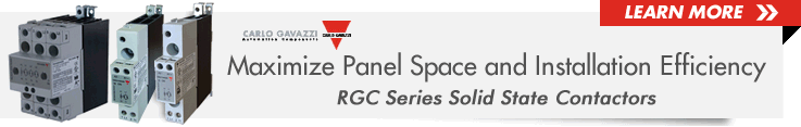 Carlo Gavazzi RGC Series Solid State Contactors from Allied Electronics