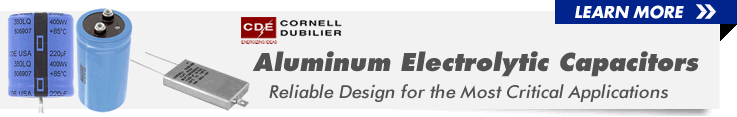 Alluminum Electrolytic Capacitors from Cornell Dubilier at Allied Electronics